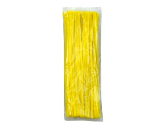 Chlupaté modelovací dráty 30cm, 100ks- žluté