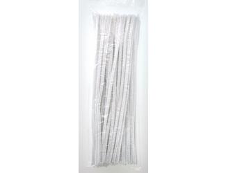 Chlupaté modelovací dráty 30cm, 100ks - bílé