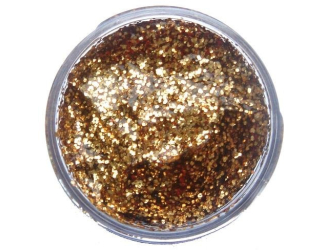 Třpytivý gel 12 ml- zlatý