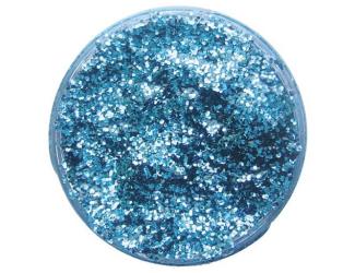 Třpytivý gel 12ml- modrý světlý