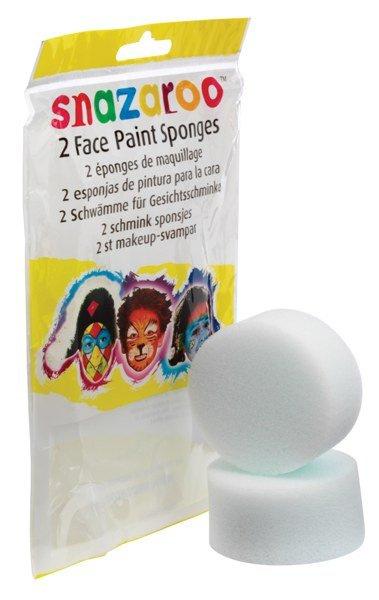 Houbička bílá 2ks na obličejové barvy