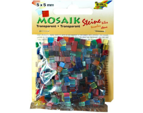 Mozaika průhledná mix barev 5x5mm