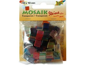 Mozaika průhledná mix barev 10x10mm