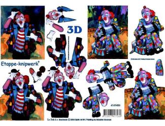 3D papíry pro vystřihování- klaun
