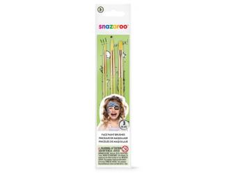 Štětce na obličej - 3ks - zelené