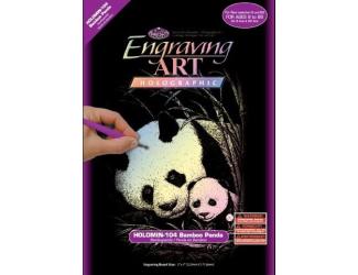 Seškrabovací obrázek- mini- Hologramický- Pandy