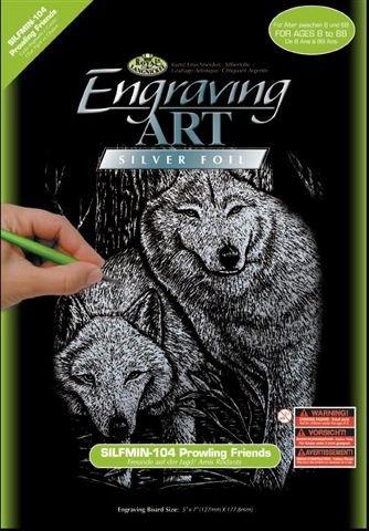 Seškrabovací obrázek- mini- Stříbrný- Psi