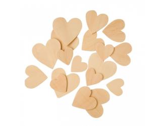 Dřevěné srdce 100ks- mix velikostí