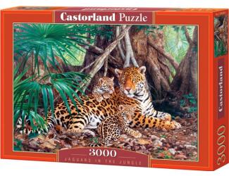 Puzzle 3000 dílků-  Jaguaři