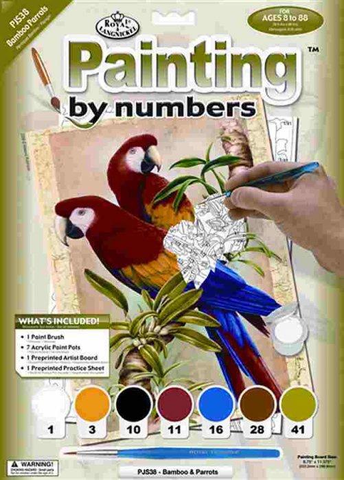 Malování podle čísel- Papoušci