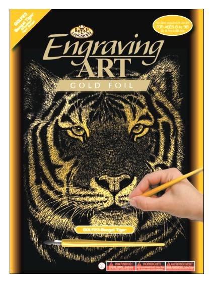 Vyškrabovací obrázek- Tygr