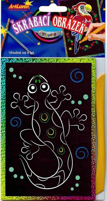 Vyškrabovací obrázky- Třpytivé barevné, v balení 24 ks, zadejte počet kusů, cena je za 1ks