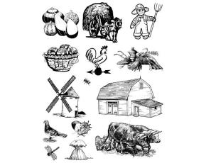 Gelová razítka- Farma- dýně