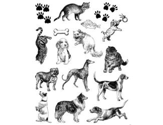 Gelová razítka- Kočky a psi