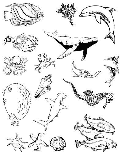 Gelová razítka- Podmořský svět