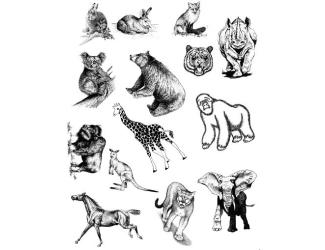 Gelová razítka- Zvířata mix