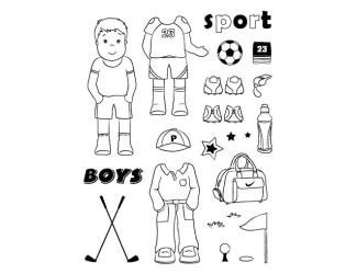 Gelová razítka- Klučičí- sport