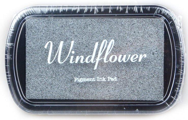 Polštářek pro razítkování na papír - Třpytivá stříbrná