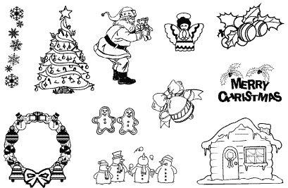 Gelová razítka- Vánoce