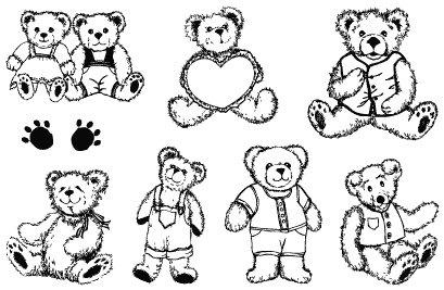 Gelová razítka- Medvídci srdíčko