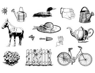 Gelová razítka- Farma kolo