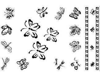 Gelová razítka- Motýlci