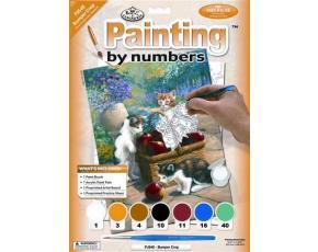 Malování podle čísel- Kočky u košíku