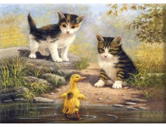 Malování podle čísel- Přátelé u vody