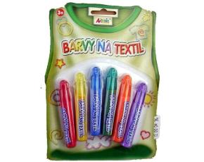 Základní barvy na textil- na blistru