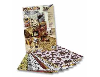 Zvířecí papír 25x35cm-300g - 9 listů , mix 4 motivů