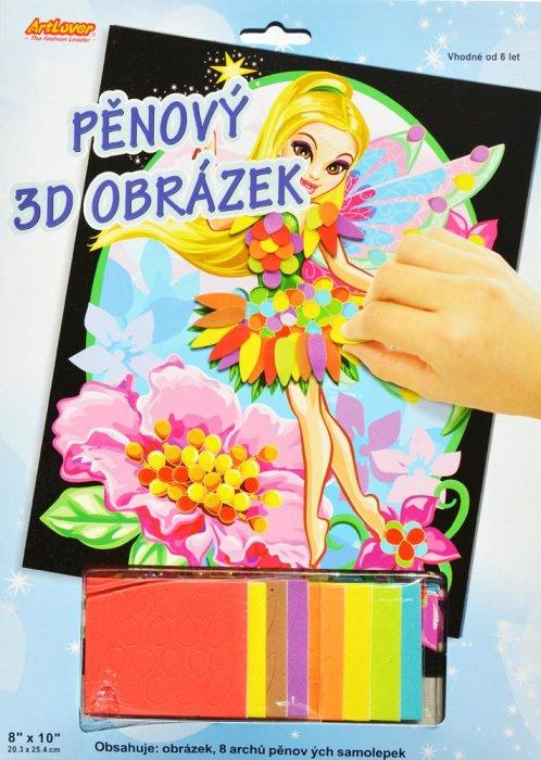Pěnový 3D obrázek - Víla