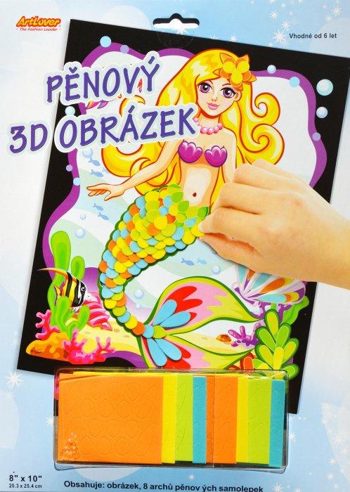 Pěnový 3D obrázek - Mořská panna