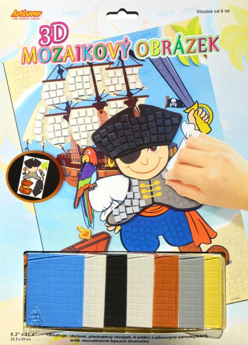 3D mozaikový obrázek - Pirát