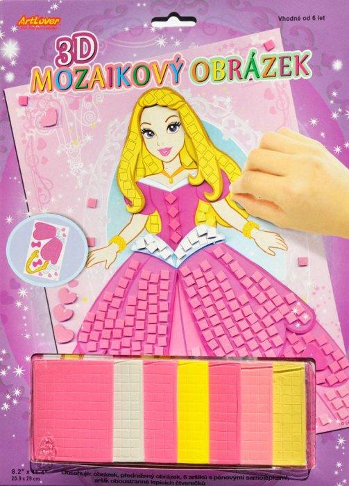 3D mozaikový obrázek - Princezna