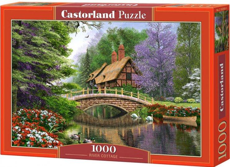 Puzzle Castorland 1000 dílků - Dům u mostu