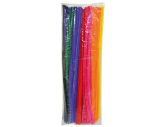 Chlupaté modelovací drátky 30cm, 100ks - základní barvy