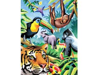 Malování podle čísel PASTELKAMI - Džungle