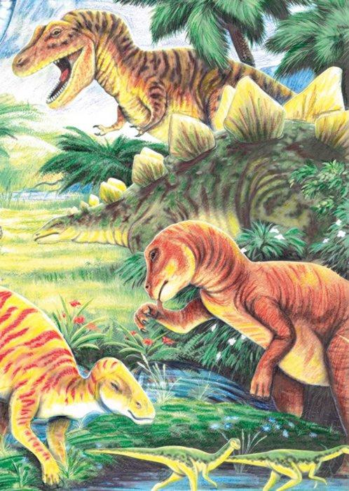 Malování podle čísel PASTELKAMI - Dinosauři - CPNMIN*112