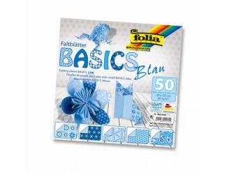 Papíry na skládání Origami, 50 listů, 10x10 cm, 80g – modré
