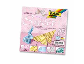Papíry na skládání Origami, 50 listů, 10x10 cm, 80g – sweet