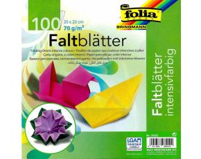 Papíry na skládání Origami, 100 listů, 20x20 cm, 70g – mix barev