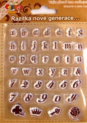 Gelová razítka - písmenka a čísla