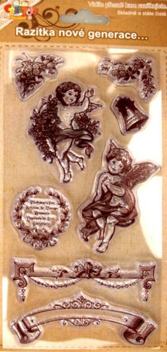 Gelová razítka - Andílci, bordury
