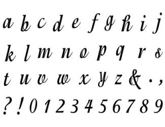 Razítka - písmenka psací a čísla