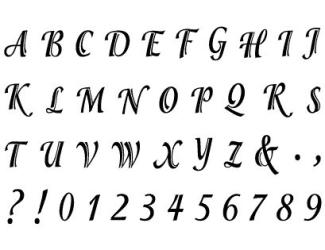 Razítka - písmenka tiskací a čísla