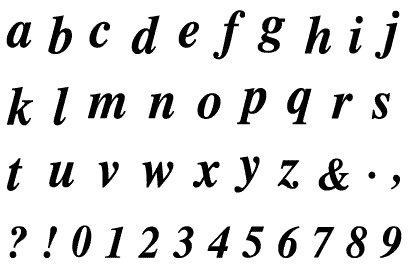 razítka - písmenka malá a čísla