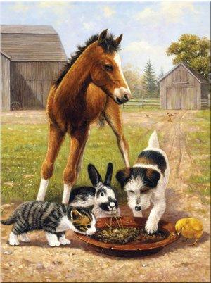 Malování podle čísel- Oběd s přáteli