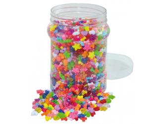 Plastové korálky srdce,hvězdy,vrtule cca2100ks