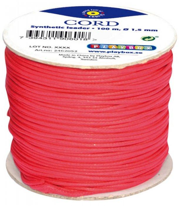 Provázek pro korálky 100m x 1,5mm červený