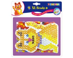 Korálky zažehlovací velké- maxi - XL sada 265 korálků - kočka